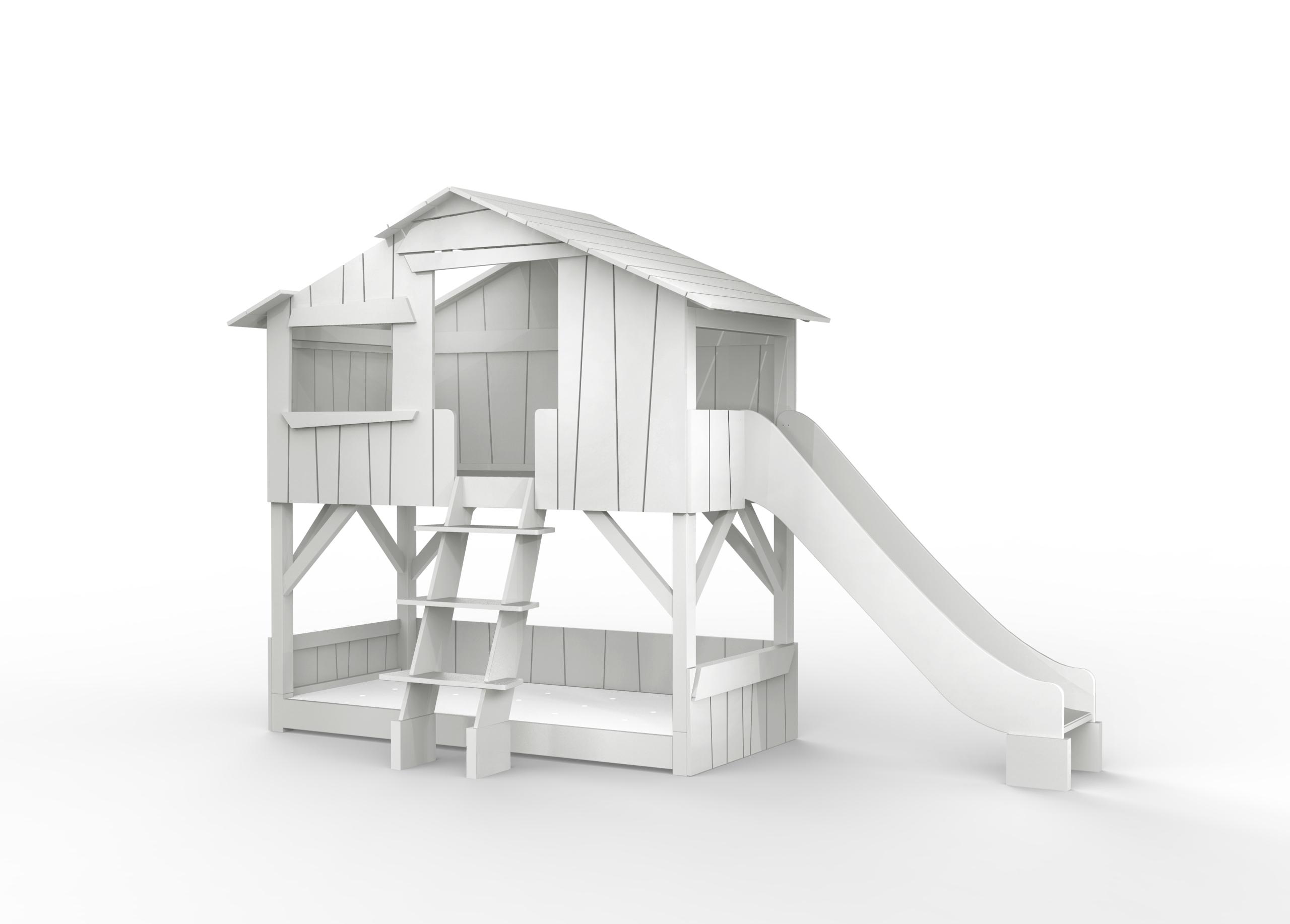 lit cabane superpos e toboggan la jungle du prince. Black Bedroom Furniture Sets. Home Design Ideas